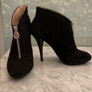 Michael Kors black suede booties